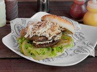 Hamburguesa con Pollo Desmenuzado