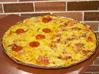 Pizza Grande Jamón y Champiñón