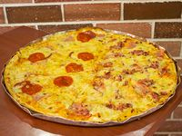 Pizza Grande Chorizo y Jamón