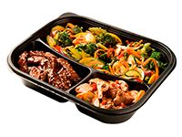 Wok Box 6 Carne Teriyaki/ Pollo Mani Agri-Picante Gratis Mr. Tea Botella