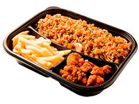 Wok Box 4 Carne Brocoli Gratis Mr. Tea Botella
