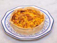 Tarta de cebolla, choclo y queso