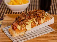 Super Perro Caliente + Carne Desmechada