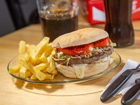 Promo - Hamburguesa con queso y papas fritas