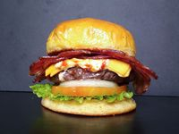 Bacon point burger
