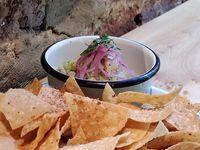 Ceviche de Pesca del Día con Salsa Verde