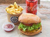 Promoción - Burger classic hit x2 + papas fritas +  bebida