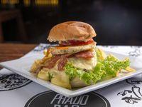 Burger provolone