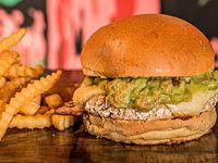 Guacamole Veggie Burger + Papas