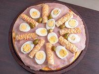 Pizza tradicional con palmitos