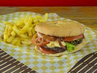 "Combo de Hamburguesa Sazon's Punta de Anca ""Madurada"""