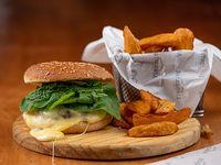 Burger Circuito Chico con papas rusticas