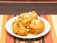 71 - Milanesa de pollo con salsa de ananá