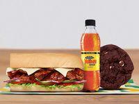 Combo Sándwich Carne BBQ  15 cm