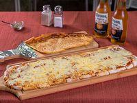 Promo - Metro de pizza muzzarella + fainá + 2 cervezas Corona 300 ml