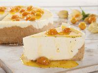 Porción de Cheesecake de Frutos Amarillos