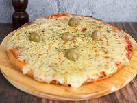 Pizza grande de muzzarella