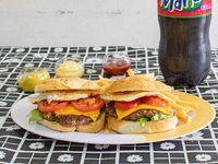 Hamburguesa garota + gaseosa Manaos cola 2.25 L