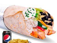 Burrito Heavy + Papas Fritas + Bebida en Lata