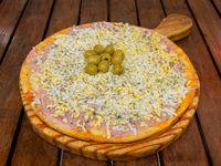 Pizza de jamón y huevo