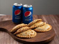 Para 2 - 6 Empanadas + 2 Pepsi Lata