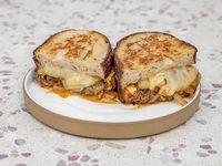 Shredded Beef Short Rib Grilled Cheese
