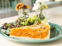 Tarta de calabaza con mix de verdes de la huerta (vengan, sin gluten)