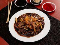 Estilo Mongolian- Carne