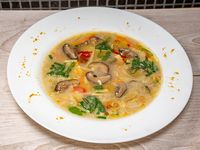 Sopa de verduras chinas picante