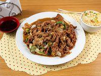 Promo - Carne mongoliano con arroz chaufan