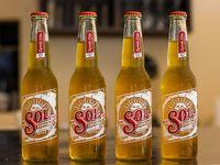 Porrón de cerveza Sol 330 ml (4 unidades)