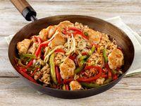 Wok oriental de pollo