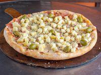 Pizza con provolone