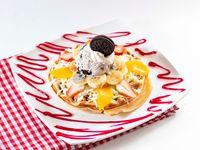 Waffles con Helado