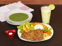 Chuleta de Pollo + Vegetales del Día