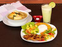 Filete de Cerdo + Vegetales del Día
