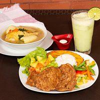 Chuleta de Cerdo + Vegetales del Día