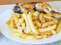 Combo - 1/4 pollo asado + papas fritas + bebida 220 ml