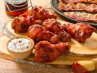 Hooters Bacon Wrapped Wings 6 Unidades