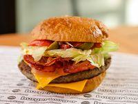 Burger burger con papas fritas
