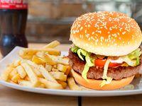 Combo Hamburguesa Especial con Papas y Gaseosa