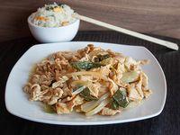 Colación - Pollo mongoliano + Acompañamiento