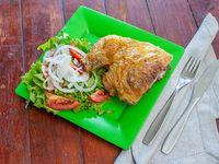 Promo - 1/4 de pollo con ensalada o papas fritas + agua saborizada 600 ml
