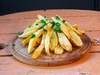 Papas fritas con verdeo
