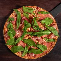 Pizza jamón serrano y rúcula mediana