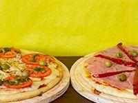 Promo - 1 Pizza de Jamon y Morrones + 1 Pizza de Napolitana