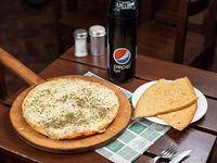 Promo - Pizzeta con muzzarella + 2 fainá + Pepsi 1.25 L