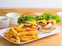 Sándwich cheddar