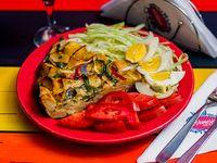 Menú del día - Tortilla de papas + Guarnición + Postre