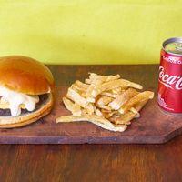 Hamburguesa 4 quesos al parmetto